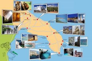 Mappa turistica del Salento